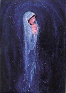"""Llegó el ángel Gabriel hasta María y le dijo: """"Alégrate, llena de gracia, el Señor está contigo"""