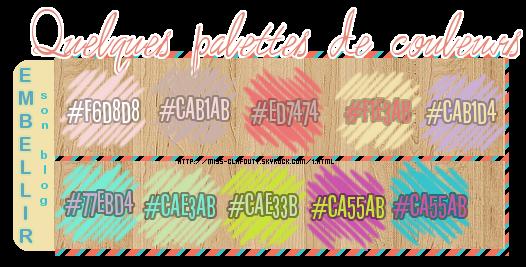 2 Palettes de couleurs pour embellir son blog !