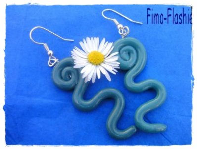 Boucles d'oreille serpentin
