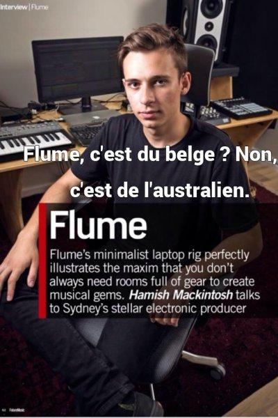 Flume, c'est du belge ? Non, c'est de l'australien.