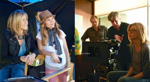 Aniston-Online J.Aniston sur le set de Five