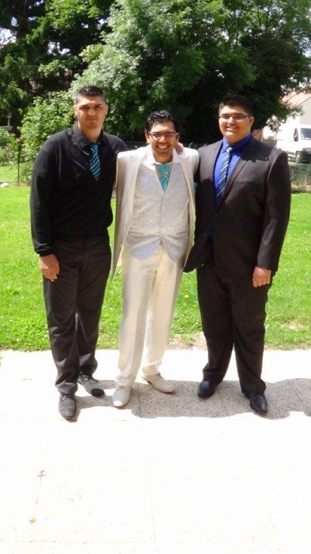 Mes trois fils !!! aussi beau l'un que l'autre