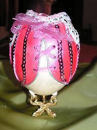 Oeuf de  nandou peint et décoré