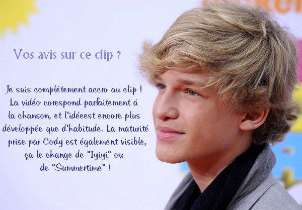 """. Clip - Le nouveau clip de Cody Simpson """"On My Mind"""" nous a enfin été dévoilé !  ."""