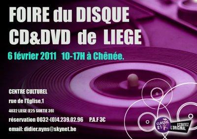 Nouvelle foire du DISQUE, CD et DVD.