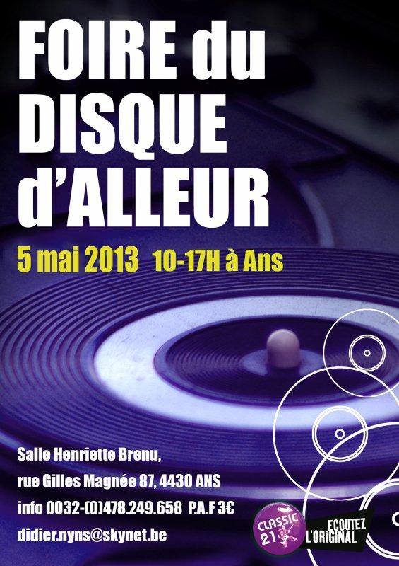 FOIRE DU DISQUE ALLEUR LE 05/05/2013
