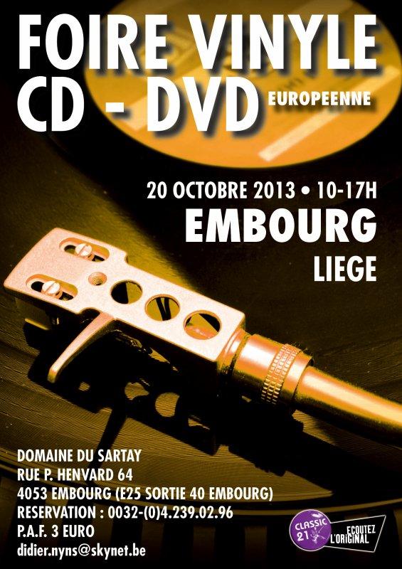 Foire européenne du Vinyle à Embourg le 20/10/2013