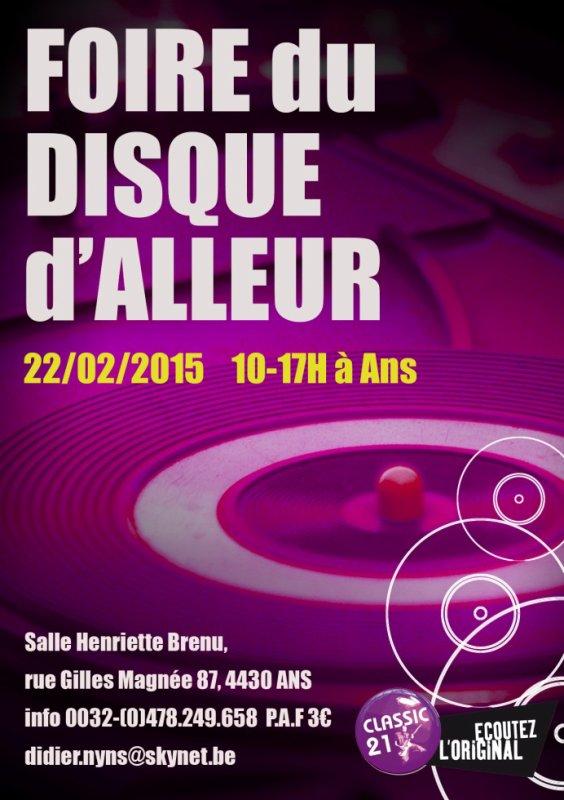Foire du disque à Alleur le 22/02/2015