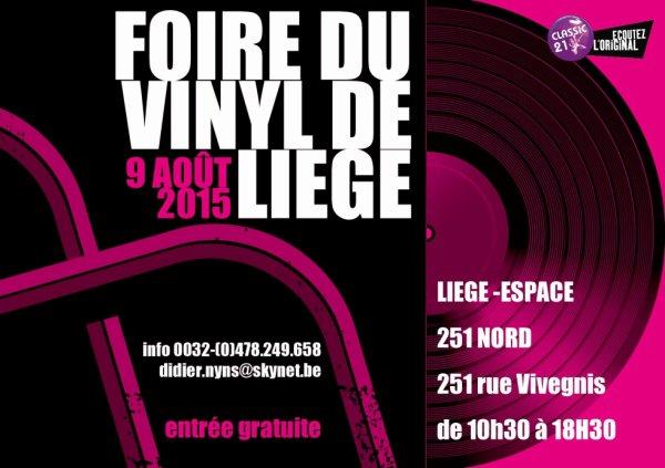 Foire du vinyl (cd & dvd) de Liège le 9/08/2015