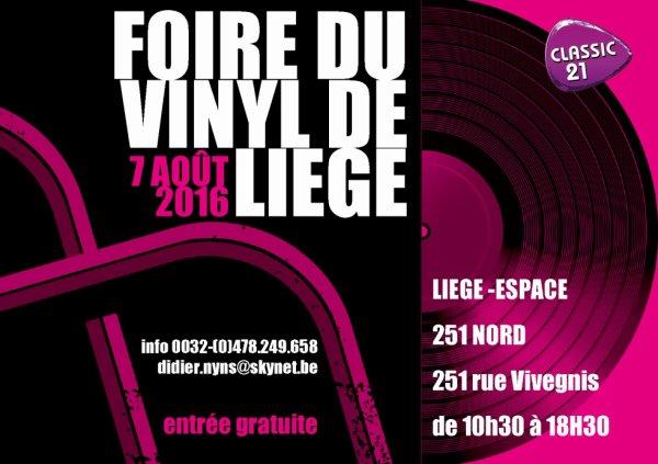 Foire du vinyl de Liège le 07/08/2016