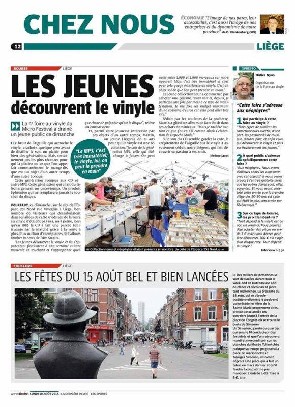 Foire du vinyl de Liège le 07 août 2016-