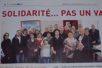 """SOLIDARITE PAS UN VAIN MOT ....""""le petit AIXOIS JANVIER 2010"""""""