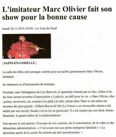 L'imitateur MARC OLIVIER fait son show pour l'association