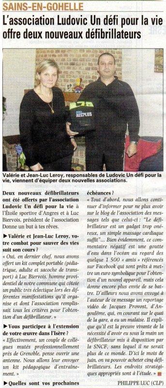 Voix du Nord et Nord Eclair du mardi 18/01/2011...combat FACEBOOK et nouvelle antenne