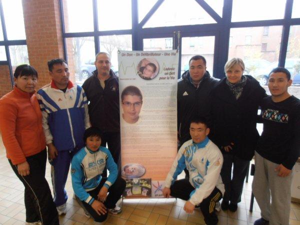 cours de taiso, remise de don du Racing Club de LENS et tournoi de judo LUDOVIC LEROY à AIX NOULETTE
