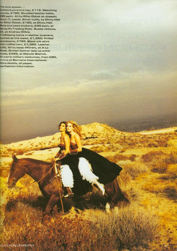 Eva Herzigova, Shana Zadrick & Monika Schnarre (Vogue UK Mars 1992)