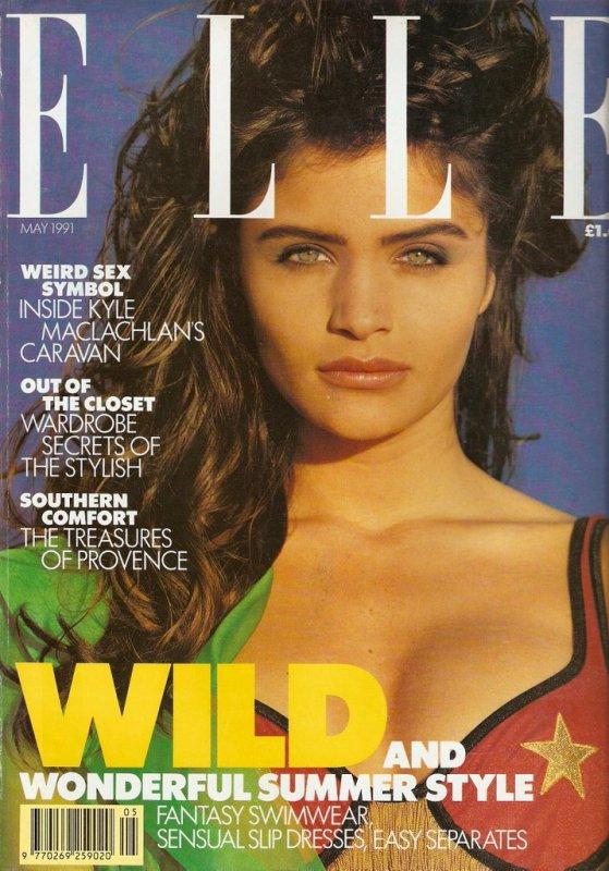 ELLE UK Mai 1991 Helena Christensen