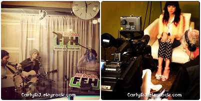 Twitter Time: Hier, Carly était en Allemagne, elle a posté les photos ci dessous.
