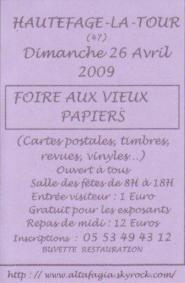 FOIRE AUX VIEUX PAPIERS