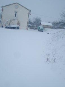 Un tour du village sous la neige