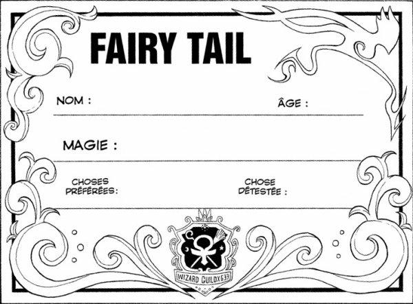 Fiche Fairy Tail