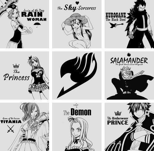 Les surnom de Fairy Tail <3