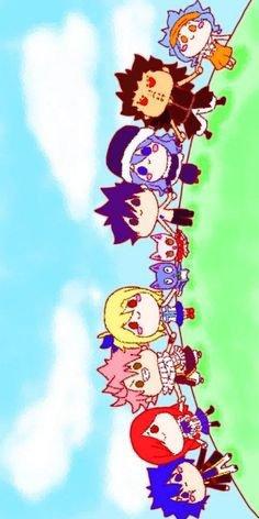 Fairy Tail couples chibi trop mimi :3