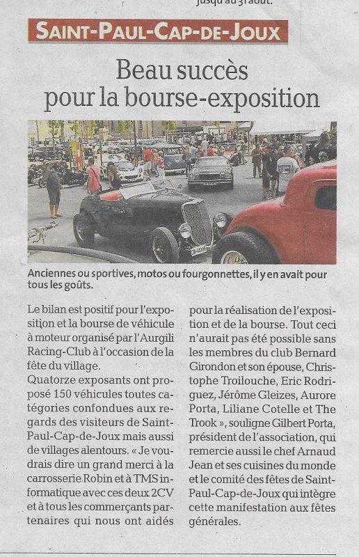 exposition Saint Paul Cap de Joux du 12 juillet 2015