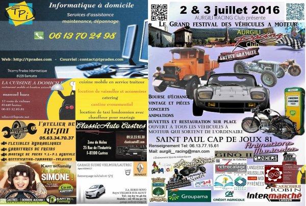 partenaire du festival a moteur de saint Paul Cap de Joux