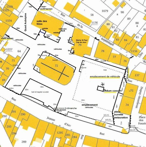 Le plan du festival  de St Paul Cap de Joux