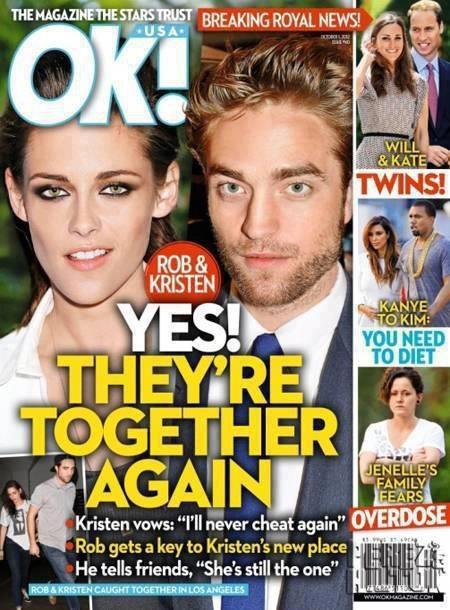 "The title of the magazine:"" yes! they're together again"" Is it necessary to believe in it? / titre du magazine:"" oui! ils sont ensemble à nouveau"". faut-il y croire?"