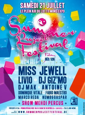 Summer Project Festival 2012 @ Lotto Mons Expo July 21st (National Day)