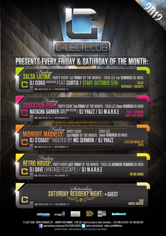 C-Lect Club Proudly Presents September 2012 Agenda Party!!!!