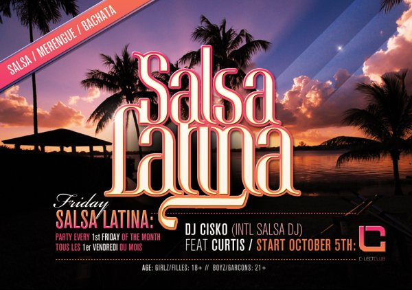 Dont Miss It October 5Th Salsa Latina With The most Wanted Dj In The Kind: Dj Cisko Ft Curtis @ C-Lect Club (Jemeppe/Sambre)