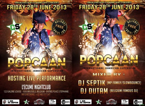 Popcaan Live Performance Friday 28.06.13 Check The video: