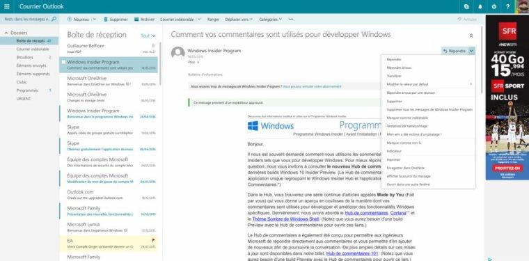 Microsoft repousse la migration vers le nouveau Outlook.com