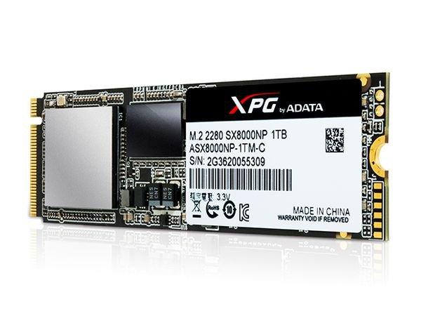 SSD ADATA XPG SX8000 : 1 To à 2,4 Go/s pour les gamers