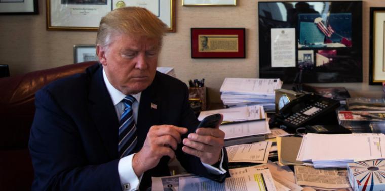 Donald Trump utiliserait encore un smartphone Android malgré les risques de sécurité