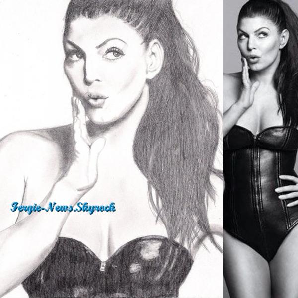 Voici un dessin de Fergie fait par un fan que je trouve très réussis ! Qu'en pensez-vous ?
