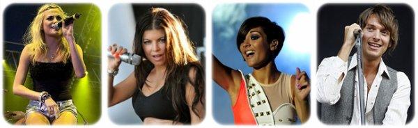 Fergie élue 2ème chanteuse de festival la plus 'HOT' par les Anglais.