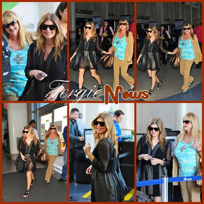 Fergie quitte Los Angeles pour passer la Fête des Mères avec Mamie