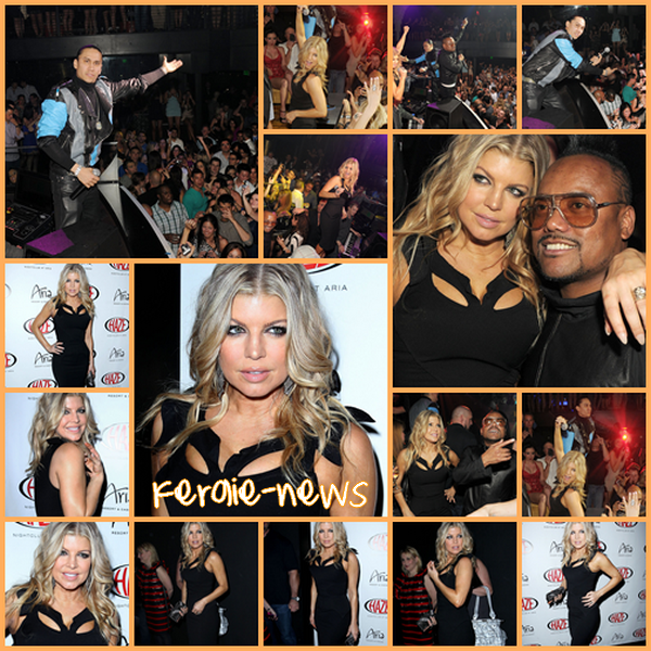 Hier , Fergie été a la discotheque de LAS VEGAS avec TABOO & APL.DE.AP
