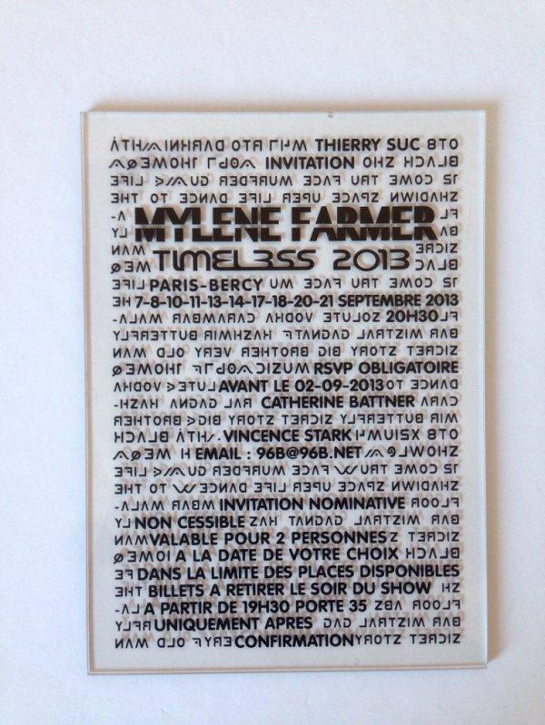 Invitation timeless 2013