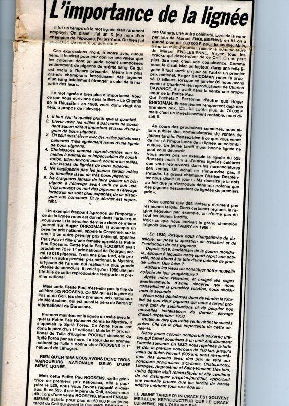 L'importance de la lignée (1986)