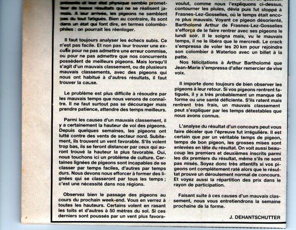 Quelques causes d'un mauvais classement (1984)