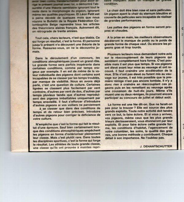 Si nous reparlions de la forme (1984) C'est la dernière semaine où je mets ces articles, ensuite place à la saison sportive.