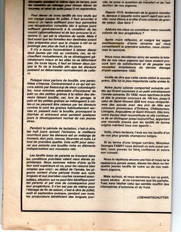 Le problème des tardifs (1984)