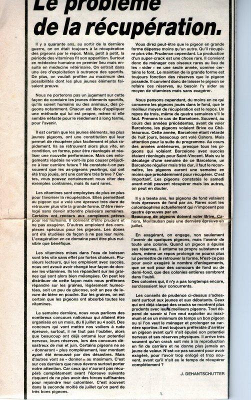 Le problème de la récupération (1984)