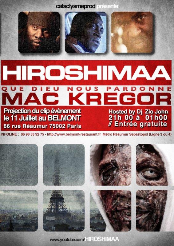 """Avant Première Projection Zombies : HIROSHIMAA clip """"Que Dieu nous pardonne"""""""