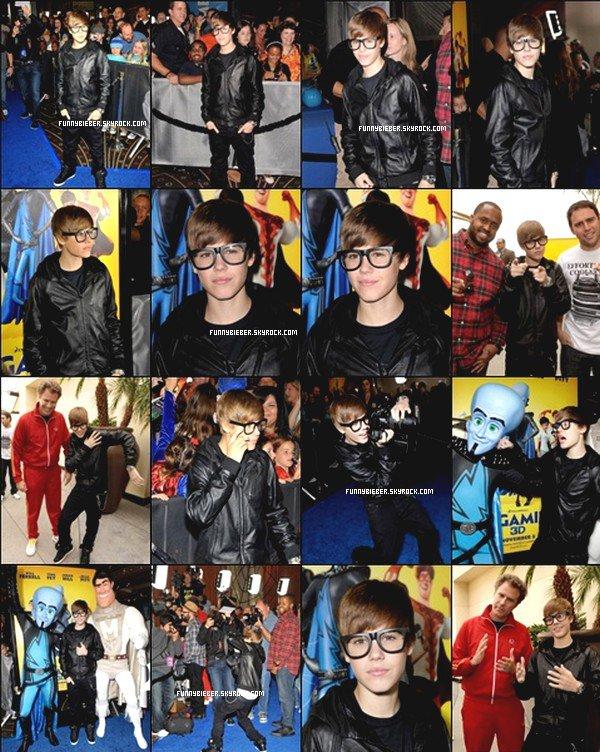 - Justin à l'avant première Megamind de son ami Will Ferrel + vidéoJW.net